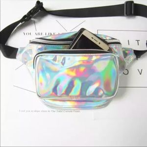Handbags - Silver translucent zipper belt bag/fanny pack